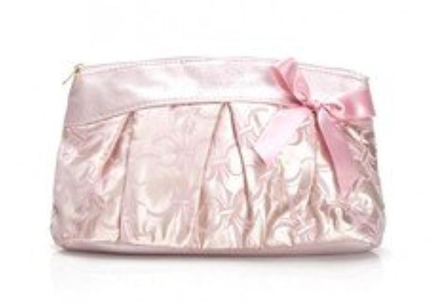 君主高める手荷物SABON サテン素材のキュート系お化粧ポーチ☆ピンク イスラエル発 並行輸入品 海外直送