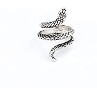 HENGTONGTONGXUN 1 Pcs Stereoscopic New Retro Punk Exaggerated Snake Ring Fashion Personality Snake Opening Adjustable Ring Jewelry As GiftR158-6 Easy to use