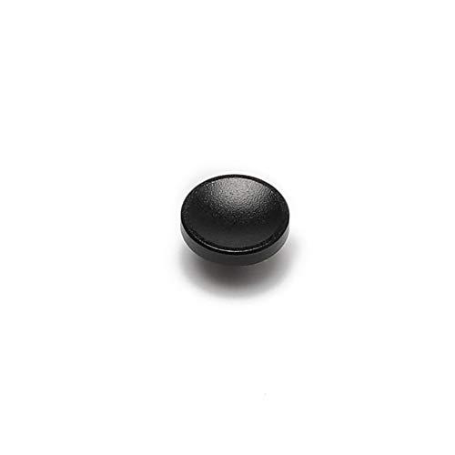 アルミニウム合金 シャッターボタン 10mm 各社カメラ対応 凹 タイプ (ブラック)