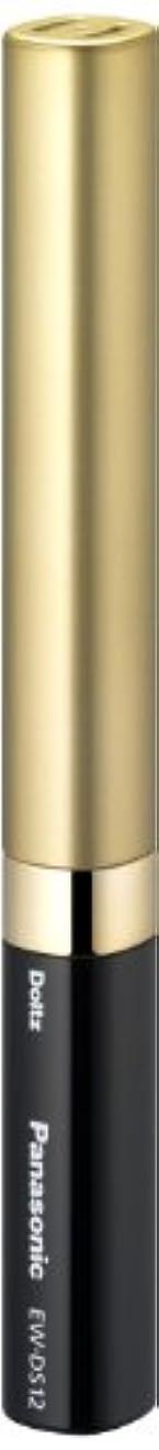 プライバシー障害者応じるパナソニック 音波振動ハブラシ ポケットドルツ 限定色 ブラック&ゴールド EW-DS12-KN