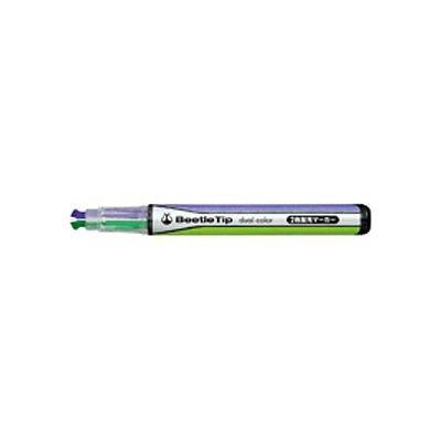 2色蛍光マーカー G/V (ビートルティップ・デュアルカラー) 品番:PM-L303-2 注文番号:62191616 メーカー:コクヨ