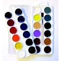 Jack Richeson Non-Toxic Semi-Moist Artists Watercolor Paint, Set 24