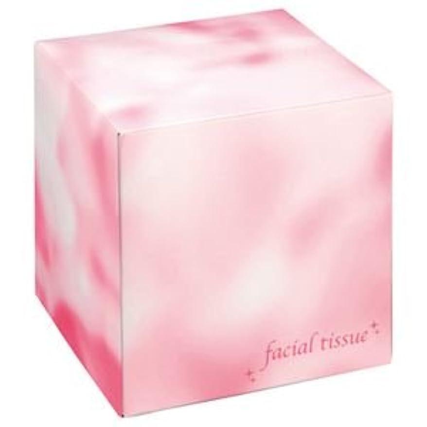 ショッピングセンターに同意する参加する大一紙工 フェイシャルティッシュ サイコロBOX 80組 ピンク 1箱 【×50セット】