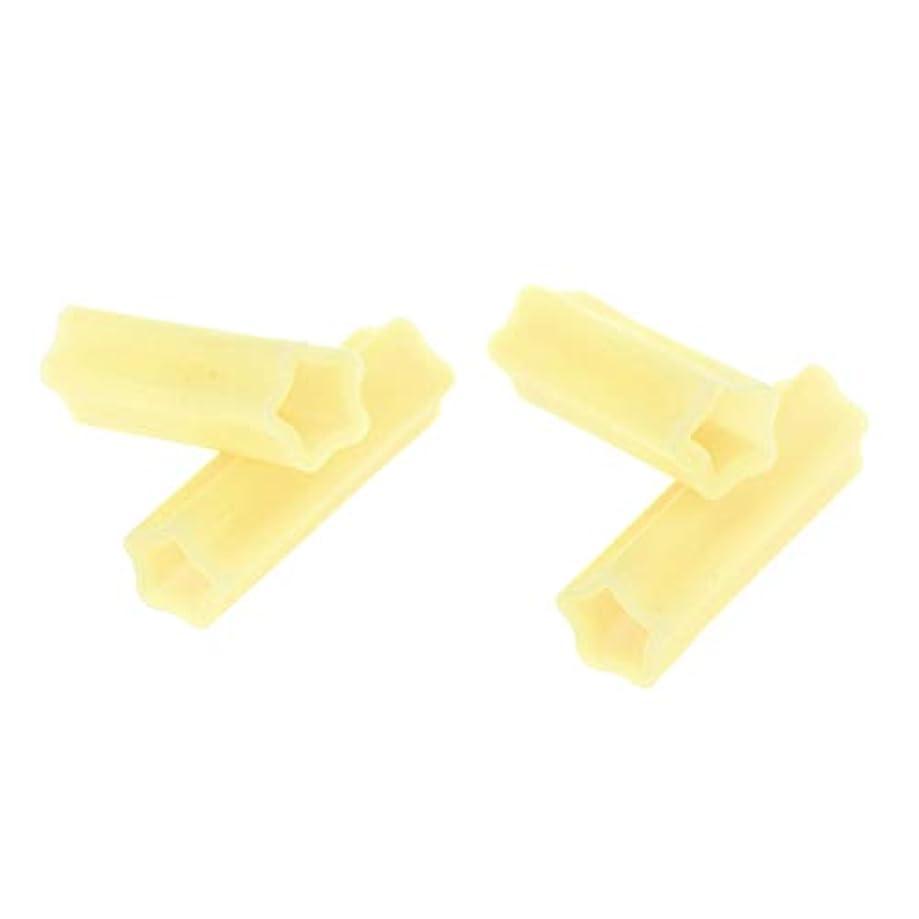 少なくとも嘆くガジュマルSharplace ニッパーキャップ シリコンネイルツール ジェルネイル ネイルケア アクリルネイル用ツール 4個入り - 黄
