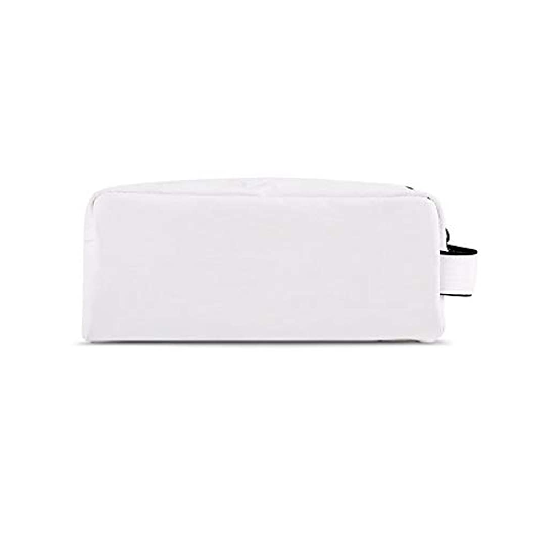 ヶ月目唯一太陽化粧オーガナイザーバッグ 化粧品の化粧ブラシのための携帯用ジッパーの収納袋専門旅行構造袋旅行付属品の大容量の防水洗浄袋 化粧品ケース (色 : 白, サイズ : S)