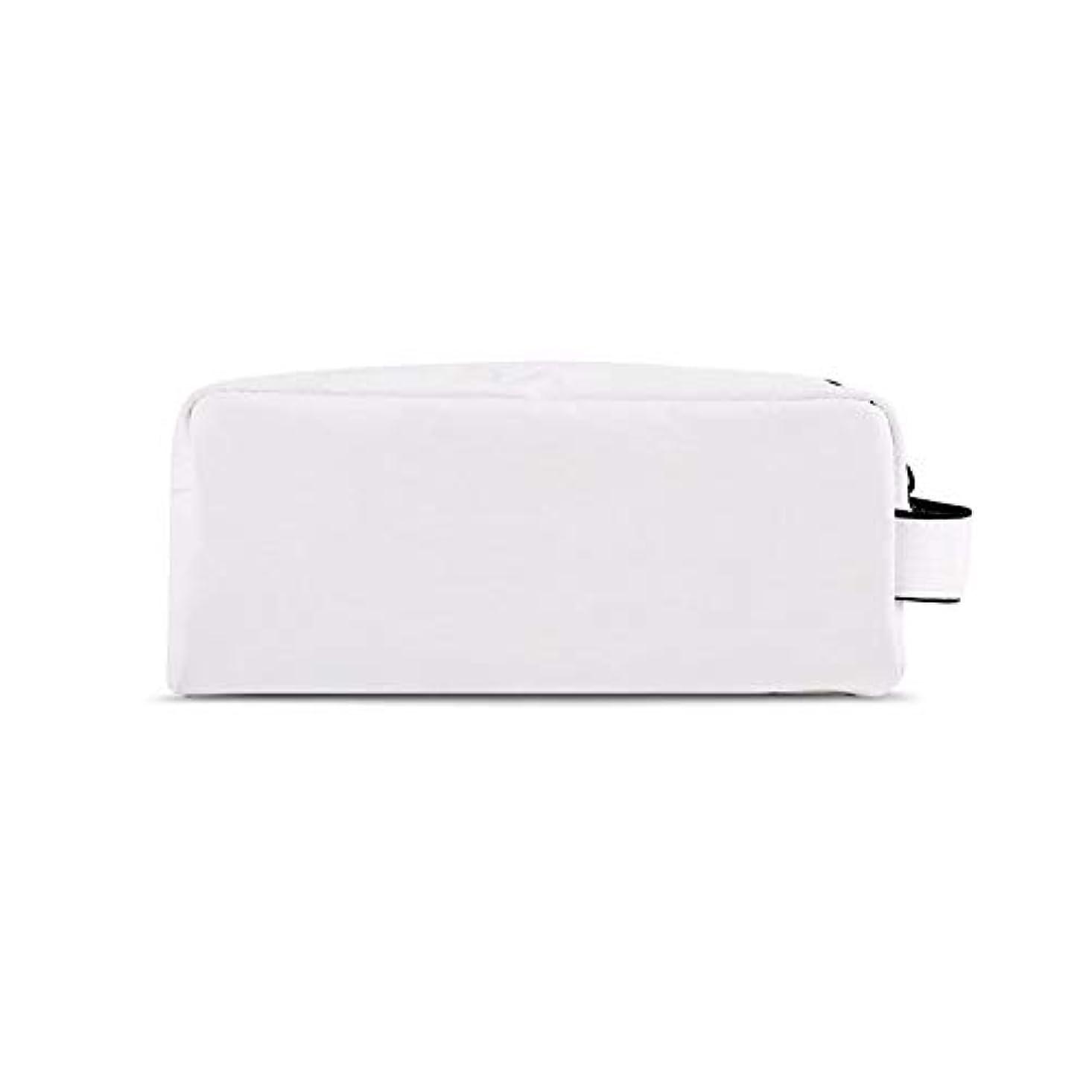 可愛い接地レビュアー化粧オーガナイザーバッグ 化粧品の化粧ブラシのための携帯用ジッパーの収納袋専門旅行構造袋旅行付属品の大容量の防水洗浄袋 化粧品ケース (色 : 白, サイズ : S)