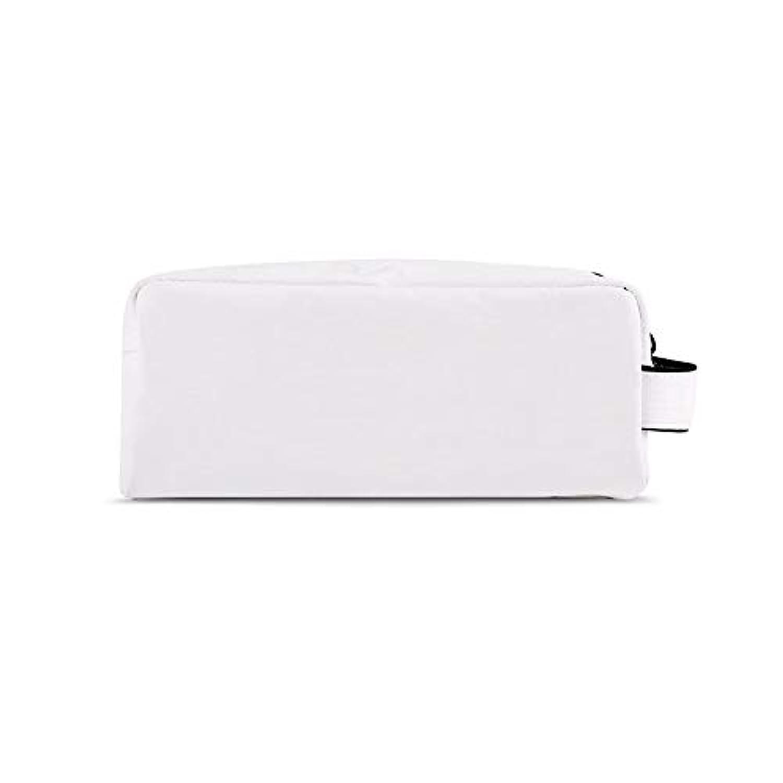 現代ヒロイック珍しい化粧オーガナイザーバッグ 化粧品の化粧ブラシのための携帯用ジッパーの収納袋専門旅行構造袋旅行付属品の大容量の防水洗浄袋 化粧品ケース (色 : 白, サイズ : S)