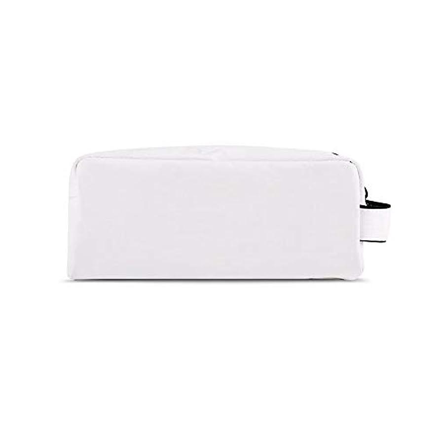 電極固体促す化粧オーガナイザーバッグ 化粧品の化粧ブラシのための携帯用ジッパーの収納袋専門旅行構造袋旅行付属品の大容量の防水洗浄袋 化粧品ケース (色 : 白, サイズ : S)