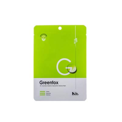 Kii Cosmeのグリーントックスクレンズバイオセルロースマスク 25ml×1枚に関する画像1