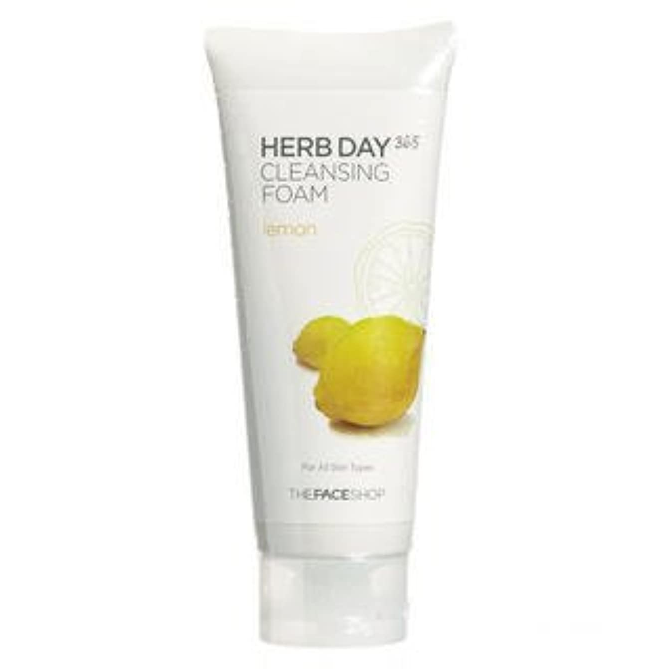 理容師大胆不敵活気づけるThe Face Shop - Herb Day Cleansing Cleansing Foam (Lemon)170ml /Made in Korea