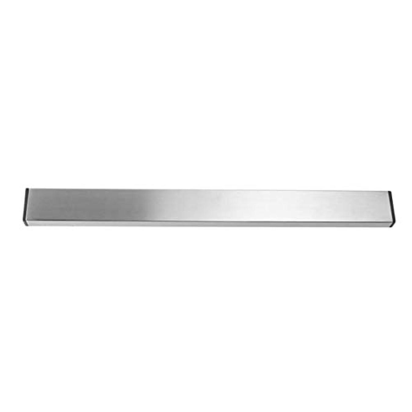 雰囲気採用レビューSaikogoods 実用的なホーム台所の壁マウントされた磁気ナイフホルダー耐久性のあるステンレススチール簡単に保存ナイフは台所用具ラック 銀 M