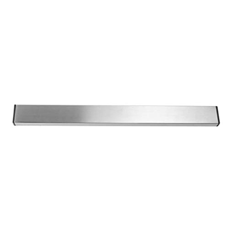 茎ネスト怪物Saikogoods 実用的なホーム台所の壁マウントされた磁気ナイフホルダー耐久性のあるステンレススチール簡単に保存ナイフは台所用具ラック 銀 M