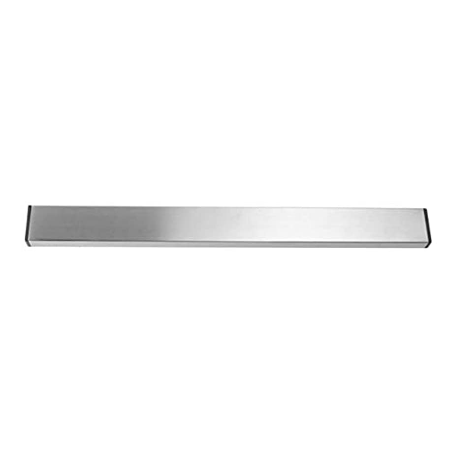 狂人気体の援助するSaikogoods 実用的なホーム台所の壁マウントされた磁気ナイフホルダー耐久性のあるステンレススチール簡単に保存ナイフは台所用具ラック 銀 M