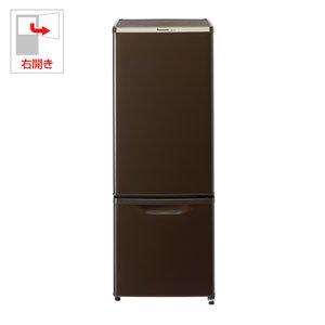 パナソニック 168L パーソナル冷蔵庫 2ドア 右開き マホガニーブラウン NR-B179W-T