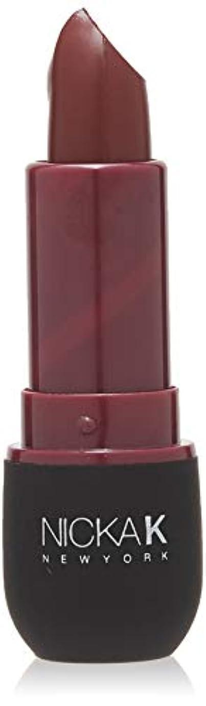 本物の東部回復NICKA K Vivid Matte Lipstick NMS21 Violet Red (並行輸入品)