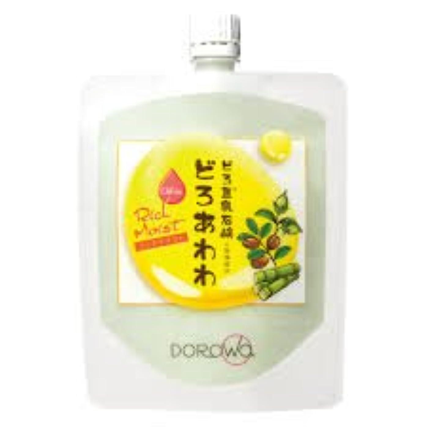 複合プラス衰える【DOROwa(ドロワ)】どろ豆乳石鹸 どろあわわ〈リッチモイスト〉