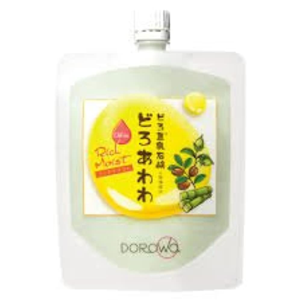 太陽香りファックス【DOROwa(ドロワ)】どろ豆乳石鹸 どろあわわ〈リッチモイスト〉