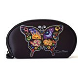 """Day and Night Butterfly - Dan Morris, Protective Waterproof Neoprene WALLET for your Cash Coins ID Card - 6.5""""x3.5""""x1"""""""