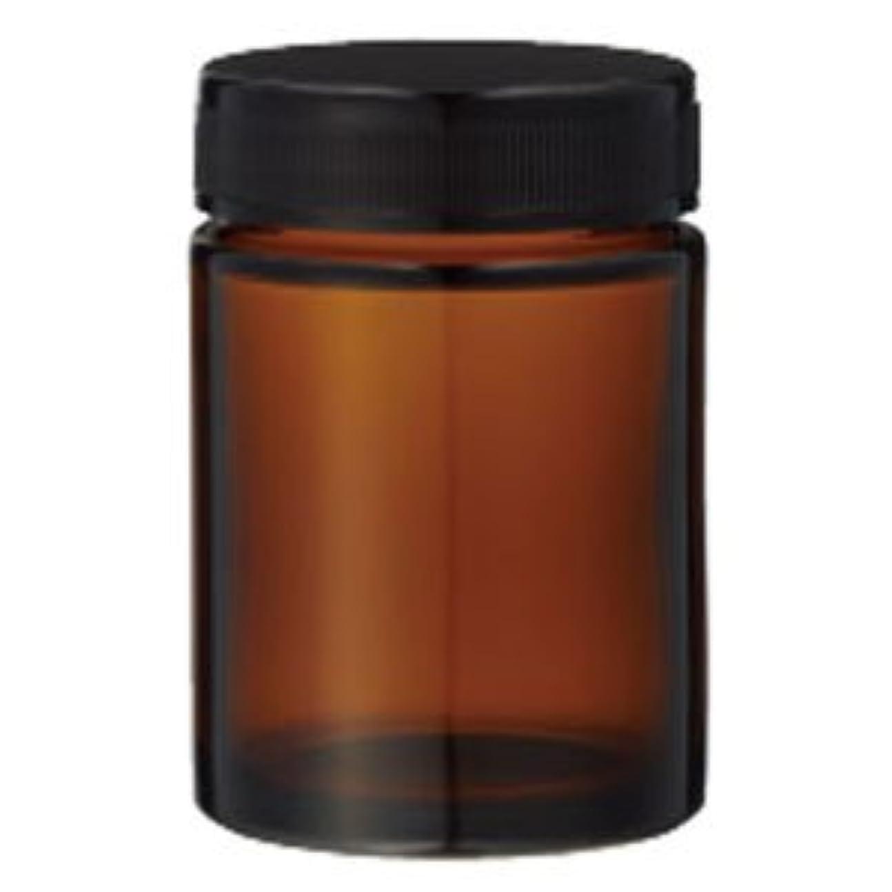ジャムまあアッティカス生活の木 茶色ガラス?クリーム容器(100ml) 13-691-5050