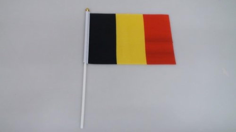 手旗 ベルギー/ 手旗 国旗 ベルギー 世界 ミニ 国旗 手旗
