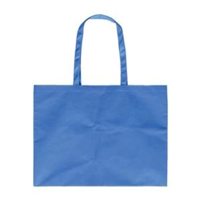 (まとめ) アーテック 作品収納バッグ/トートバッグ 【大】 マチ付き 不織布 ブルー(青) 【×40