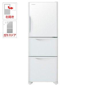 日立 冷蔵庫 265L 3ドア 右開き 真空チルド まんなか野菜 クリスタルホワイト R-S27JV XW