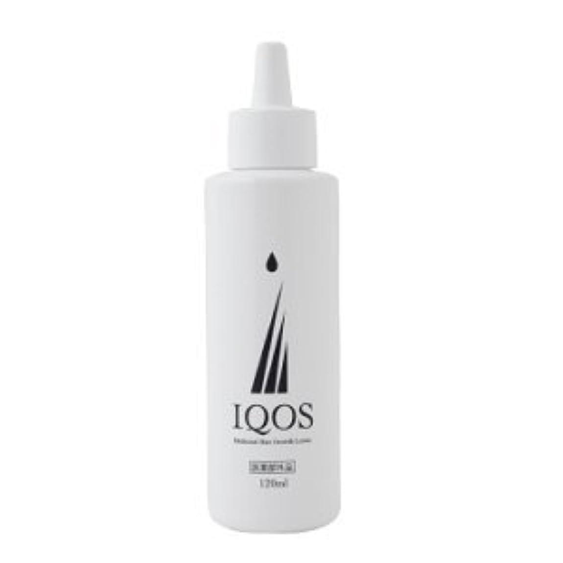 縞模様の配列習字M-034を最大級配合 薬用育毛剤 IQOS イクオス 120ml