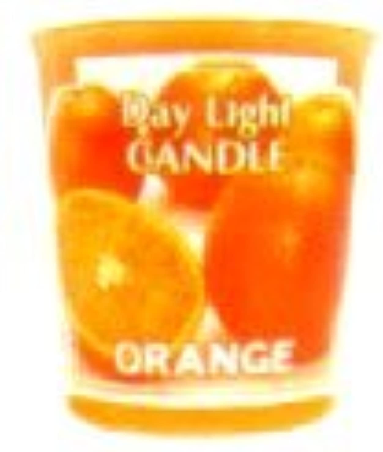 怠惰中傷小競り合いデイライトキャンドル オレンジ OC-DLC-33