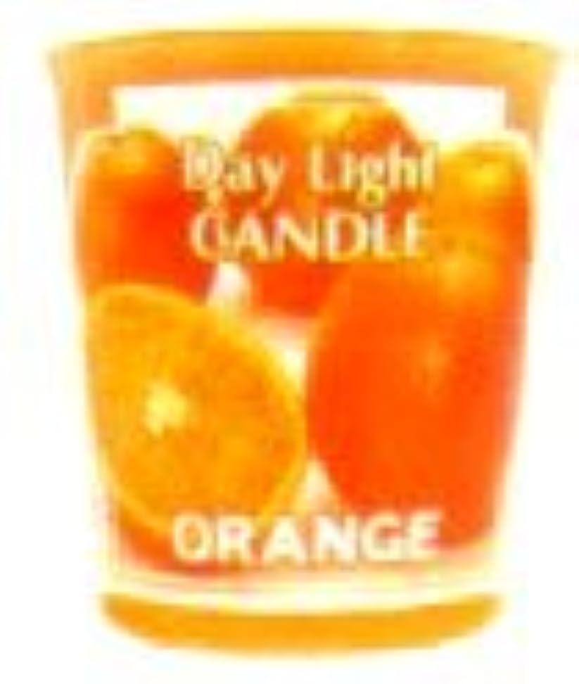 中間シルエットマイナスデイライトキャンドル オレンジ OC-DLC-33
