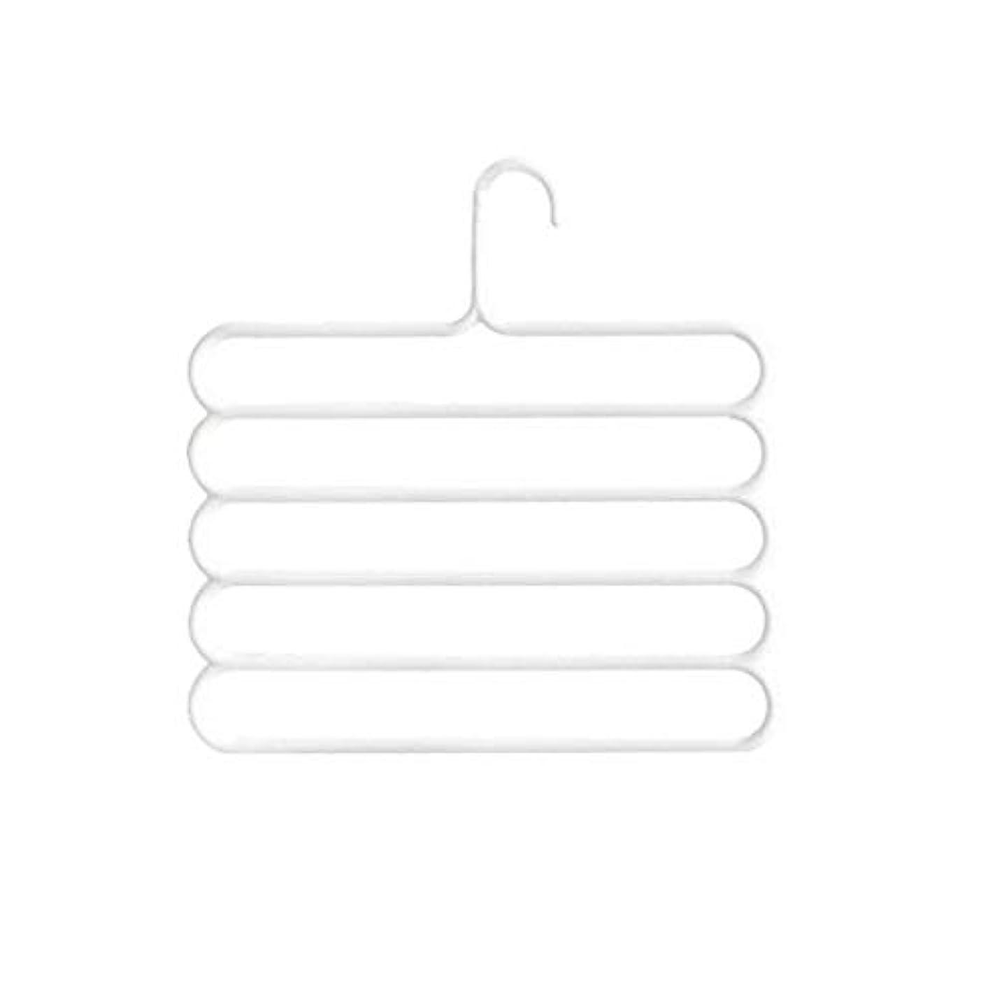 半円忌避剤支出Blackfell 滑り止めマジック多層ズボンハンガー多機能パンツクローゼットベルトホルダーラックSタイプ5層節約スペース