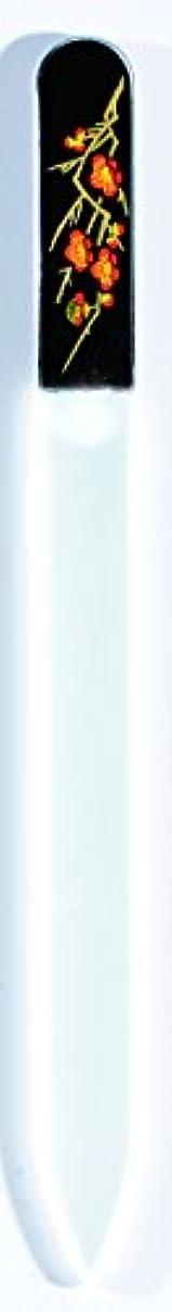 メイド特殊どこでも橋本漆芸 ブラジェク製高級爪ヤスリ 二月 梅 OPP