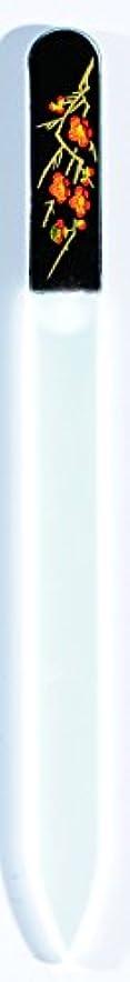 不正伝統時制橋本漆芸 ブラジェク製高級爪ヤスリ 二月 梅 OPP