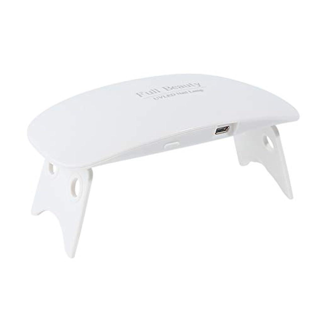 教科書気づくなる命令YHSUNN 9Wポータブルミニマウスシェイプ光線療法ランプネイルドライヤーポリッシュゲル硬化USB 6 LEDライトタイマー折りたたみマニキュアツール