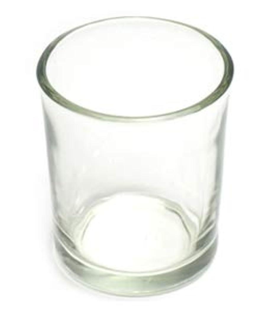 民兵住人生き残りキャンドルホルダー ガラス シンプル[小] 192個【キャンドルスタンド 透明 クリア おしゃれ ろうそく立て】