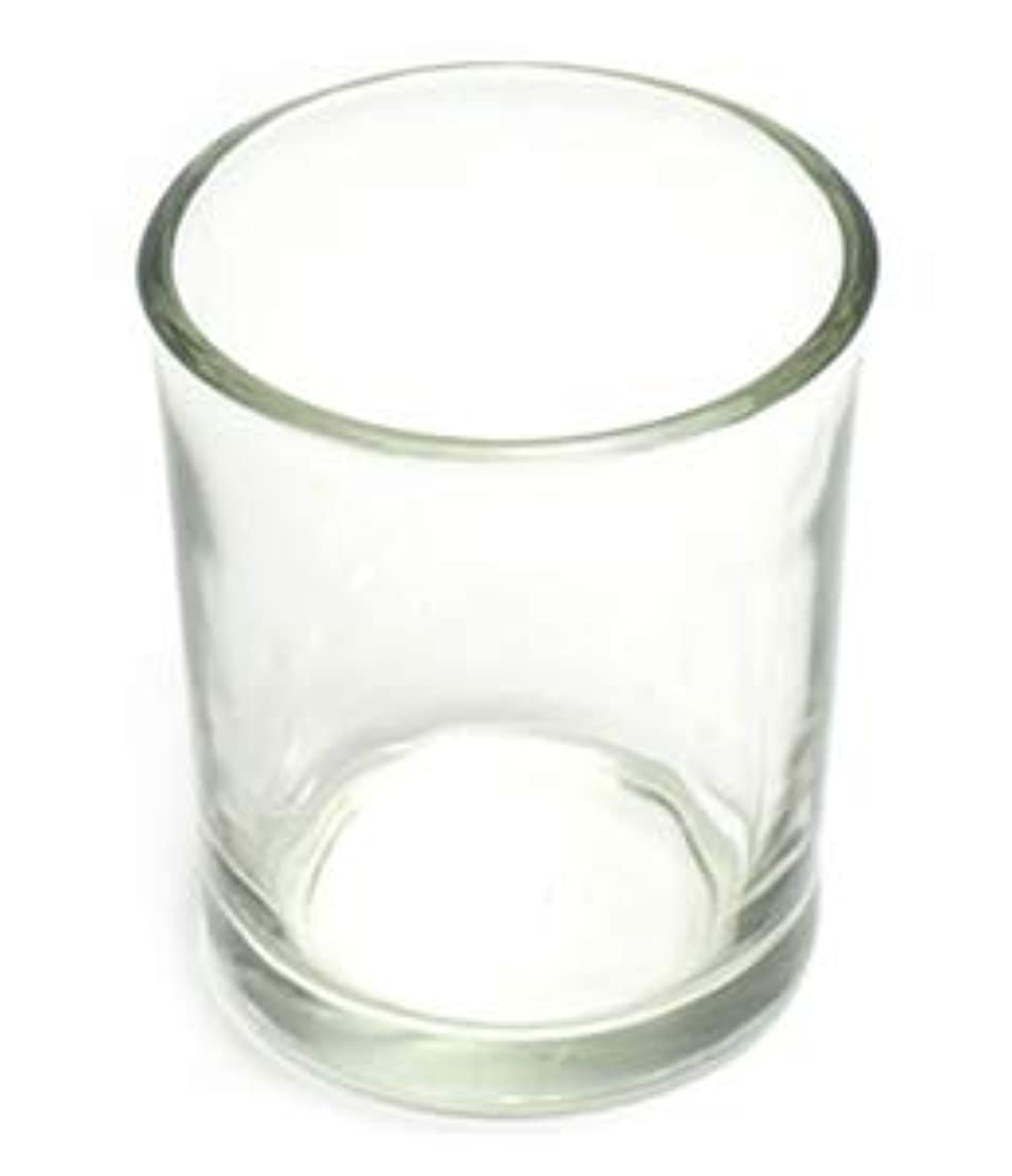 薄める楽な傀儡キャンドルホルダー ガラス シンプル[小] 192個【キャンドルスタンド 透明 クリア おしゃれ ろうそく立て】