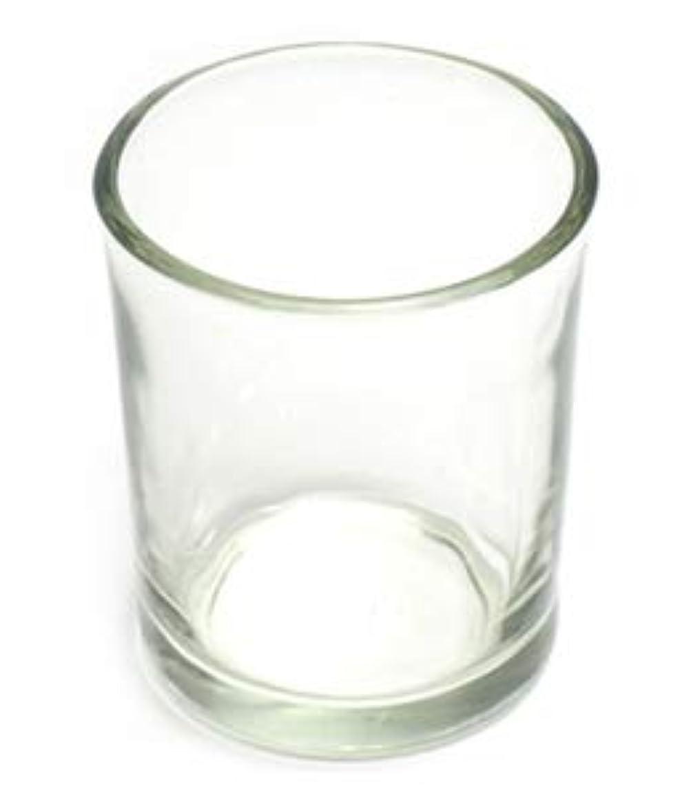 ボウリング調整高齢者キャンドルホルダー ガラス シンプル[小] 1個 キャンドルスタンド 透明 クリア おしゃれ ろうそく立て