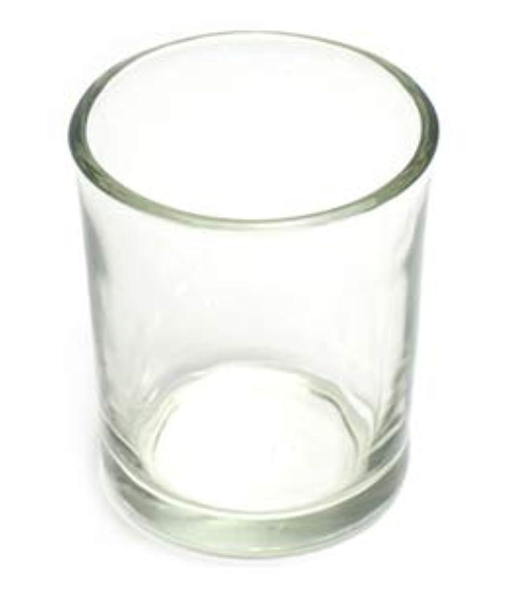 子音一瞬消費するキャンドルホルダー ガラス シンプル[小] 1個 キャンドルスタンド 透明 クリア おしゃれ ろうそく立て