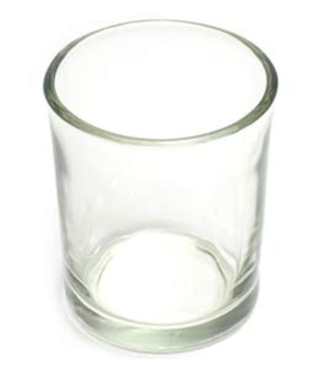 ジャケット謙虚カーテンキャンドルホルダー ガラス シンプル[小] 1個 キャンドルスタンド 透明 クリア おしゃれ ろうそく立て