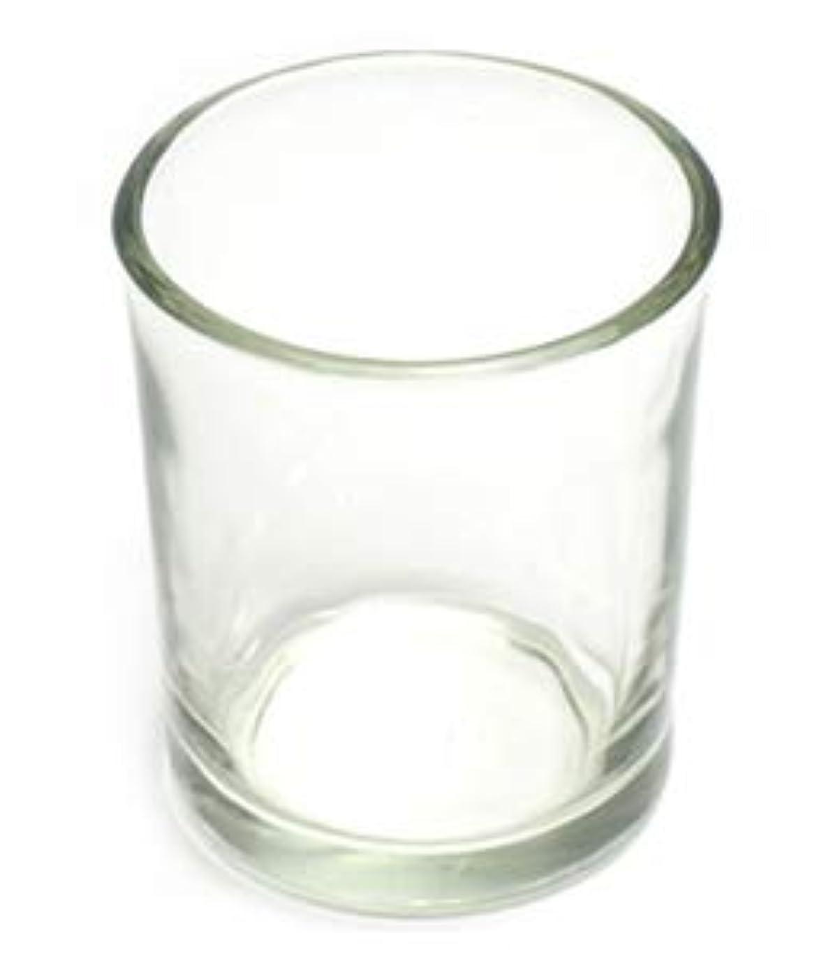 具体的に増幅する変位キャンドルホルダー ガラス シンプル[小] 192個【キャンドルスタンド 透明 クリア おしゃれ ろうそく立て】