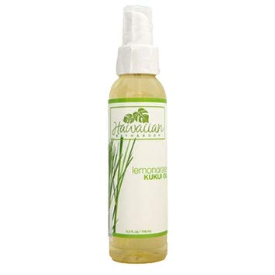 トランク伝染性の気を散らすhawaiian bath&body KUKUI OIL ククイオイル レモングラス 4oz(118ml)