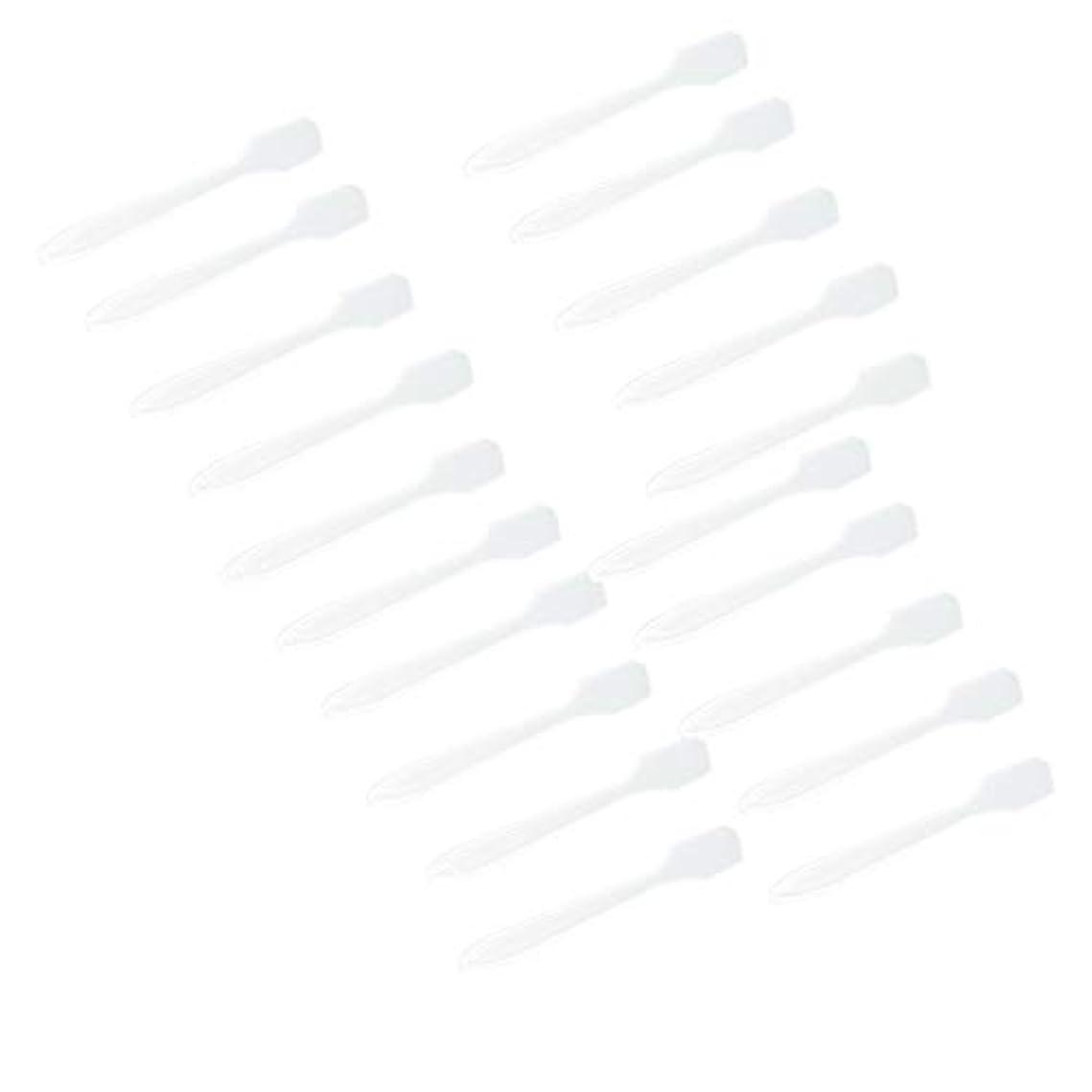 麺障害キリン5カラー選ぶ 化粧品へら スプーン フェイシャル クリーム マスクスプーン 美容パックツール 全100点 - クリア