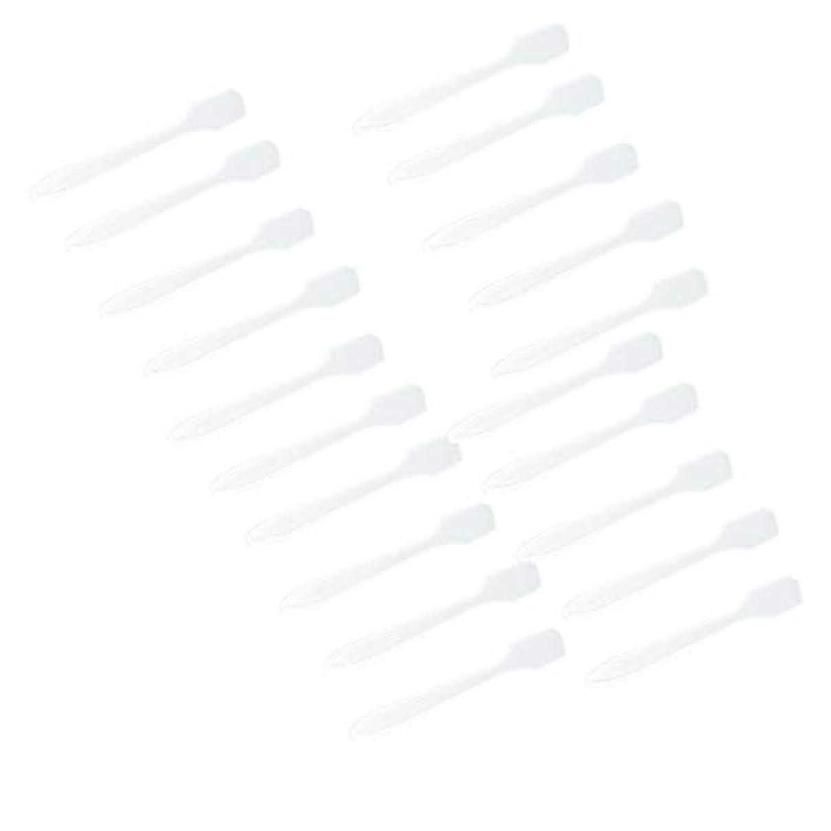 ロケット場合アクセス5カラー選ぶ 化粧品へら スプーン フェイシャル クリーム マスクスプーン 美容パックツール 全100点 - クリア