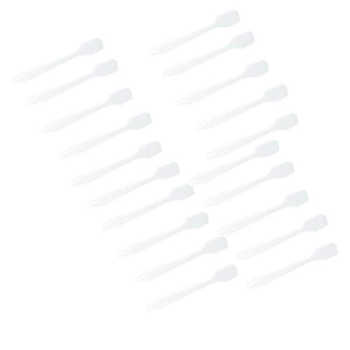 敬意を表する慎重に一口5カラー選ぶ 化粧品へら スプーン フェイシャル クリーム マスクスプーン 美容パックツール 全100点 - クリア