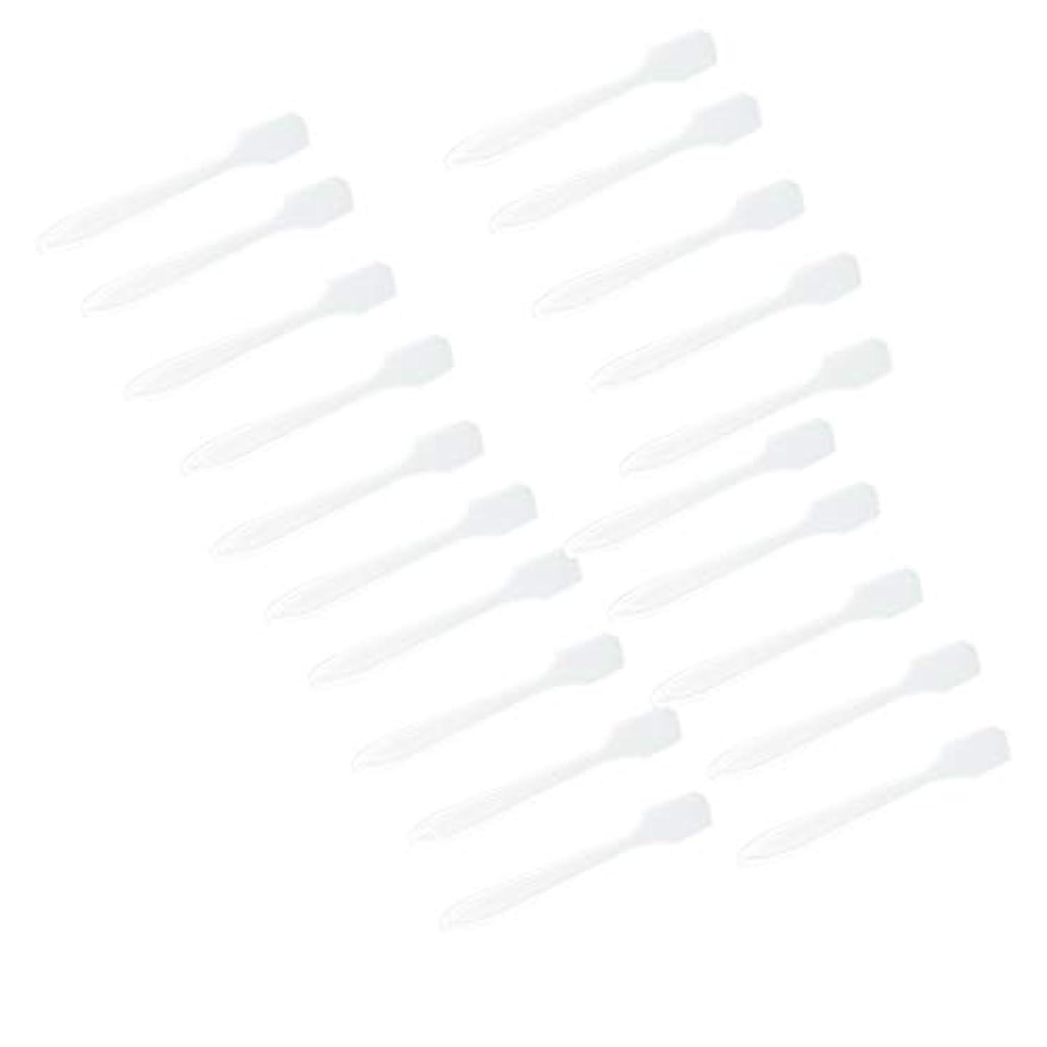 収束する初期のおじいちゃん5カラー選ぶ 化粧品へら スプーン フェイシャル クリーム マスクスプーン 美容パックツール 全100点 - クリア