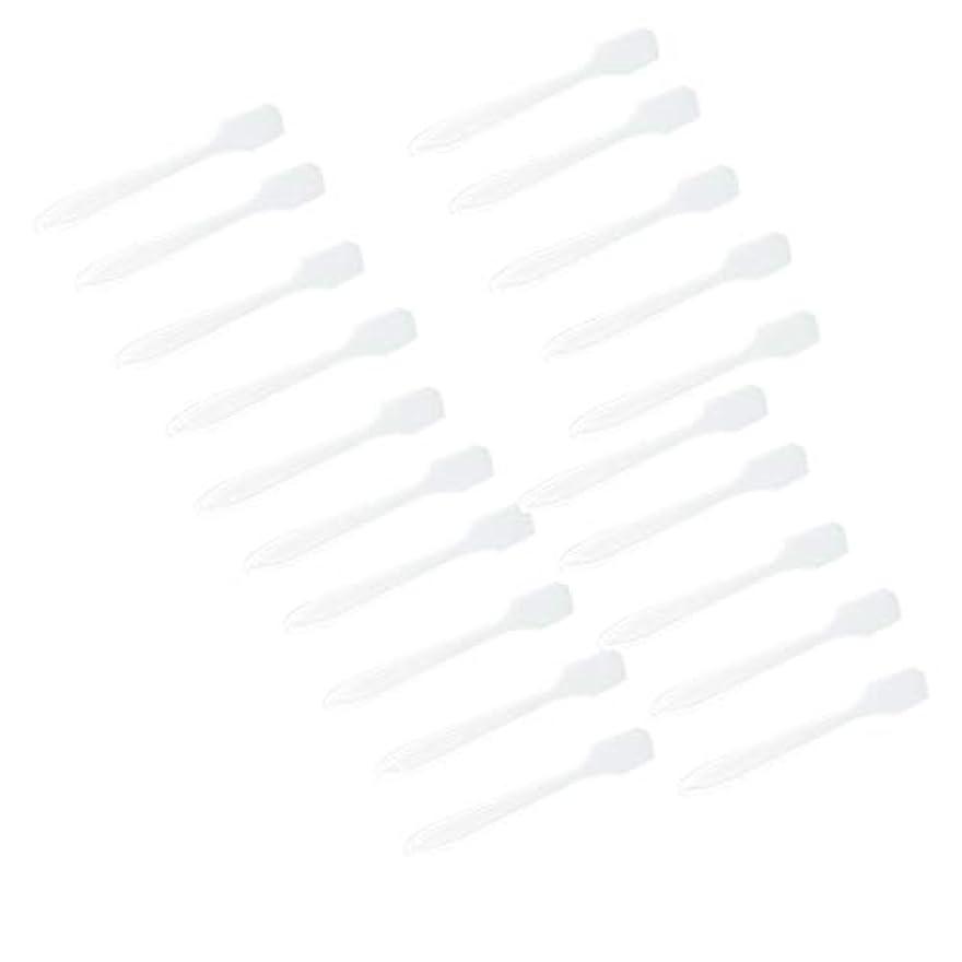 反逆感染する苛性5カラー選ぶ 化粧品へら スプーン フェイシャル クリーム マスクスプーン 美容パックツール 全100点 - クリア