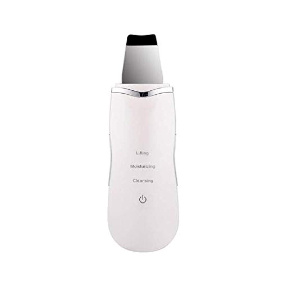 ブートクリスマス傾向がある電気美容マッサージ器、超音波顔の皮膚ディープクリーナー、イオンマッサージスキンケア美容機器、充電式、洗顔リンクルスキンケア機器 (Color : 白, Size : One size)