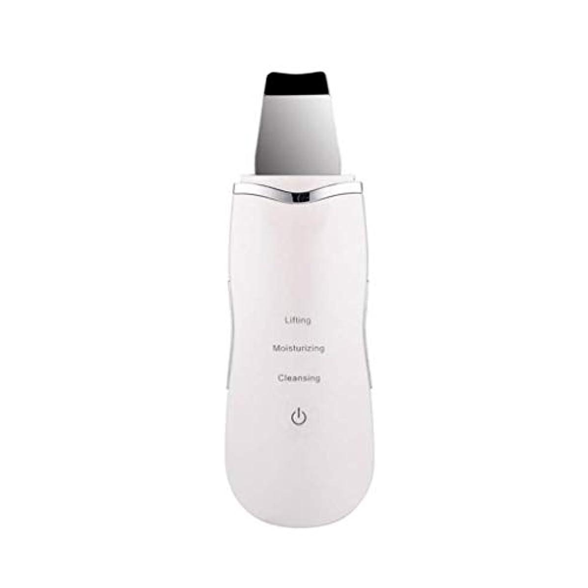 ブルモードリンバイアス電気美容マッサージ器、超音波顔の皮膚ディープクリーナー、イオンマッサージスキンケア美容機器、充電式、洗顔リンクルスキンケア機器 (Color : 白, Size : One size)