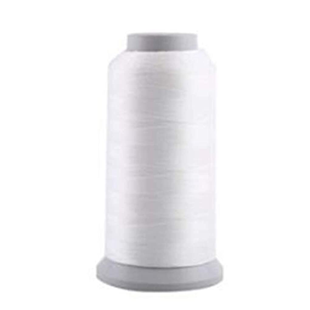 偏心ダニ実験的蓄光糸 夜光刺しゅう糸・刺繍糸、光る糸 ホワイト/1000(Y)ヤード 1枚入り