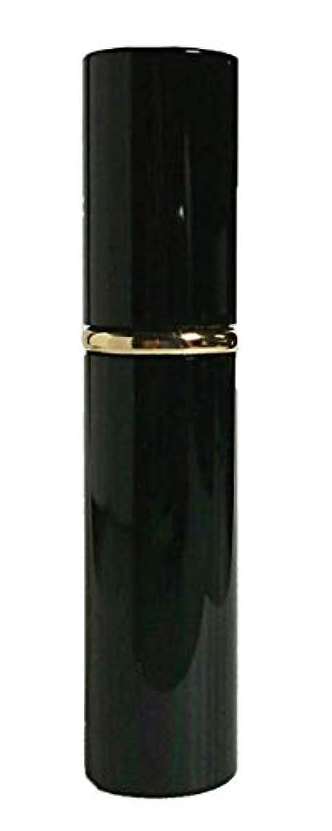 リードハミングバード今日Chicca Cerchio (キッカチェルキオ) 大人香るアトマイザー メタル ブラック 男女兼用 香水入れ ロート付き (黒)