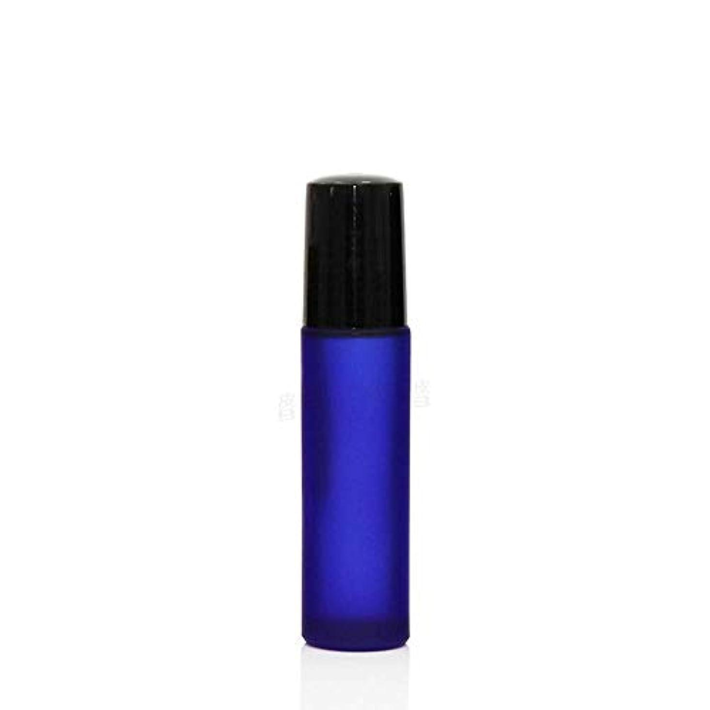 パッドユダヤ人会計士Simg ロールオンボトル アロマオイル 精油 小分け用 遮光瓶 10ml 10本セット ガラスロールタイプ (ブルー)